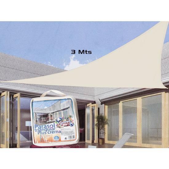 SHALL Schaduwdoek crème kleur driehoek 3 x 3 x 3 meter