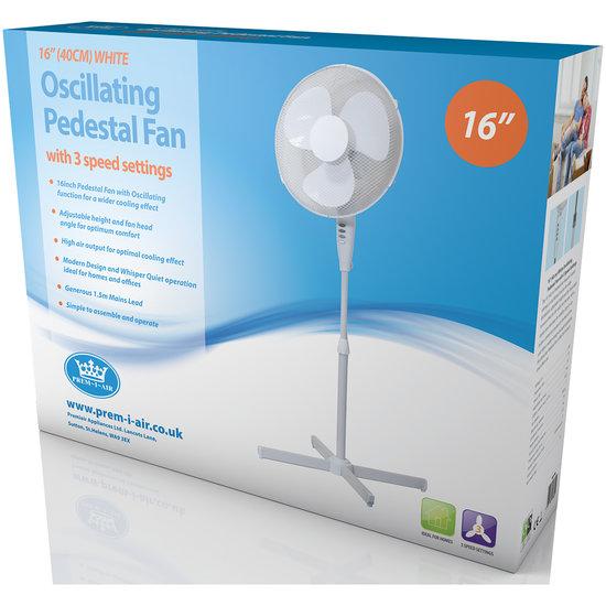 Prem-I-Air Prem-i-Air Staande ventilator 40 cm met 3 snelheden