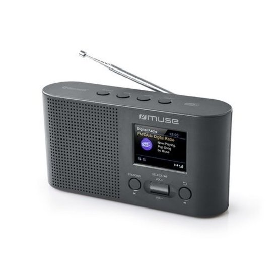 Muse Muse M-112 DBT draagbare radio met FM, DAB+ en Bluetooth ontvangst