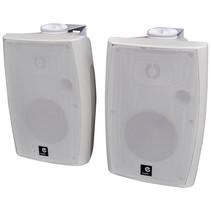 E-Audio Actieve luidsprekers met ophangbeugel Bluetooth en AUX input 60 Watt Wit