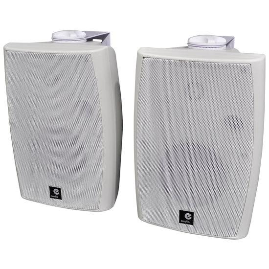 E-audio E-Audio Actieve luidsprekers met ophangbeugel Bluetooth en AUX input 60 Watt Wit