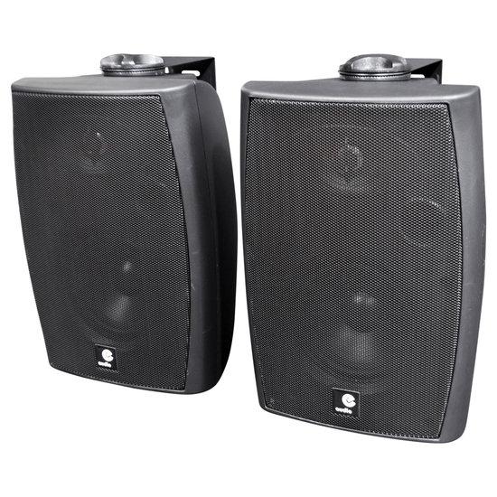E-audio E-Audio Actieve luidsprekers met ophangbeugel Bluetooth en AUX input 60 Watt Zwart