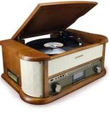 Soundmaster Soundmaster NMC549DABBE - Nostalgisch muziek center met DAB+ en bluetooth