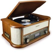 Soundmaster NMC549DABBE - Nostalgisch muziek center met DAB+ en bluetooth