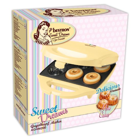 Bestron Bestron AGHM200 cakemaker voor 6 tulband cakes