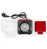 Nedis B.V. Nedis FCPC100RD  Popcornmachine rood met wit retro model - cadeau set