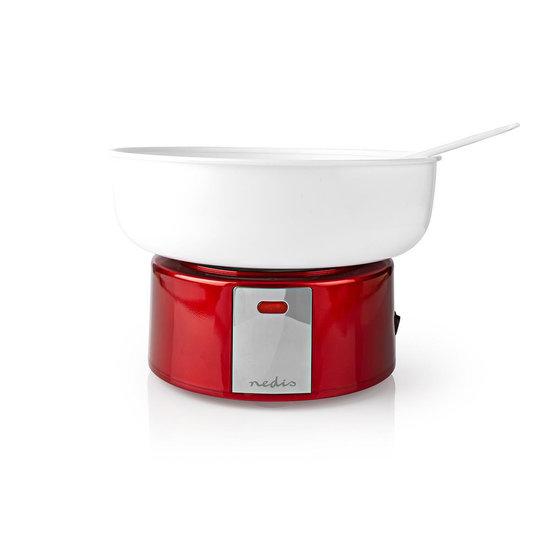 Nedis B.V. Nedis FCCM100FRD Suikerspinmachine vintage rood/wit cadeau set