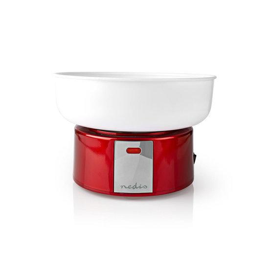 Nedis Nedis FCCM100FRD Suikerspinmachine vintage rood/wit cadeau set
