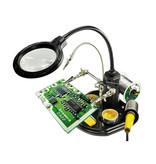 blanko Blanko derde hand / soldeerhulp met loeplamp 16 LEDs