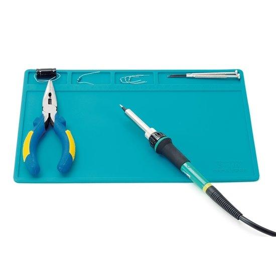 blanko Siliconen soldeermat blauw 28x20cm