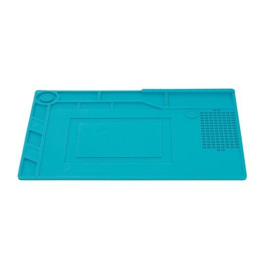 blanko Siliconen soldeermat 39x27cm blauw