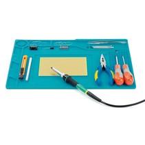 Siliconen soldeermat 39x27cm blauw