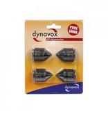 Dynavox Dynavox - Spikes 4 delig zwart