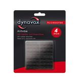 Dynavox Dynavox rubberen antivibe voeten 4 delig 40x40mm