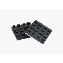 Dynavox rubberen antivibe voeten 4 delig 40x40mm