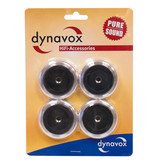 Dynavox Dynavox aluminium voeten 4 delig zwart