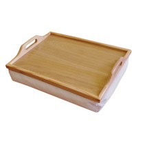 Houten Dienblad voor op schoot met Kussen / schoottafel