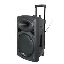 Ibiza Sound PORT15VHF-BT 800 Watt Draagbaar PA systeem met USB-MP3, REC, VOX,Bluetooth - Zwart