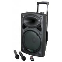 Ibiza Sound PORT15UHF Draagbaar geluidssysteem 800 Watt - USB/Bluetooth/micro's - ingebouwde accu