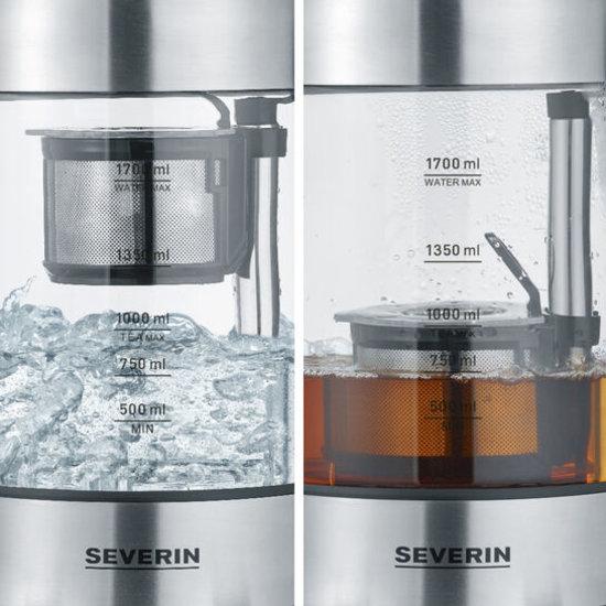 Severin Severin WK 3422 glazen waterkoker theemaker met auto-lift functie