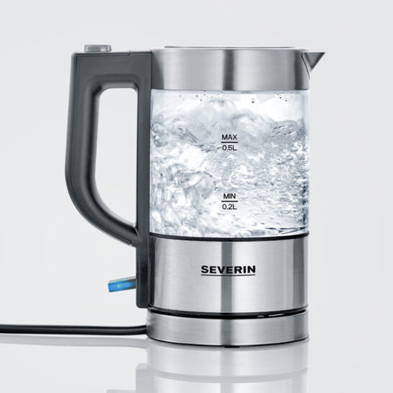 Severin Severin WK 3472 mini glazen waterkoker 0,5 liter - 1100 watt