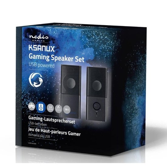 Nedis B.V. Nedis Gaming-luidsprekers 2.0 USB 3.5mm jack RMS 6 Watt