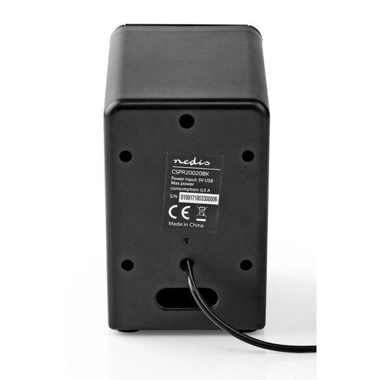 Nedis B.V. Nedis PC-Luidspreker 2.0 18 Watt 3.5 mm Jack