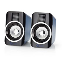 Nedis Gaming-Speakers 2.0 RGB met USB 3.5mm AUX en RMS 10 Watt