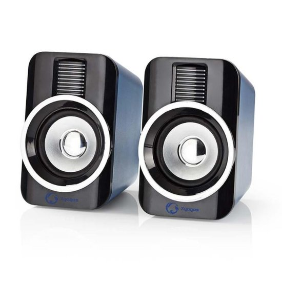 Nedis Nedis Gaming-Speakers 2.0 RGB met USB 3.5mm AUX en RMS 10 Watt
