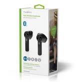 Nedis B.V. Nedis HPBT5054BK | Bluetooth 5.0 oordopjes met Charging Case Zwart | 3 uur afspeeltijd
