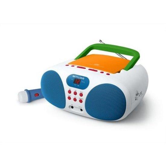 Muse Muse MD-203 KMC Draagbare Radio, CD-speler met microfoon voor kinderen