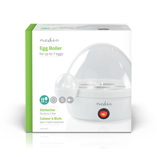 Nedis B.V. Nedis Witte elektrische eierkoker voor 7 gekookte eieren