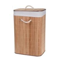 Bamboe wasmand rechthoekig naturel