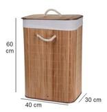 SHALL Bamboe wasmand rechthoekig naturel