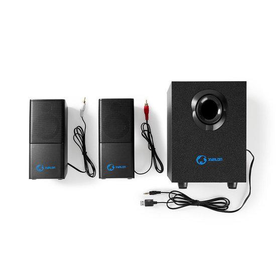 Nedis B.V. Nedis Gaming-luidsprekers - 2.1 - USB gevoed - 3,5 mm jack - 11 Watt RMS