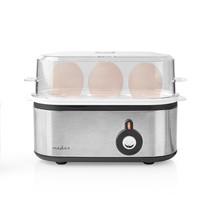 Nedis KAEB120EAL eierkoker voor 3 eieren RVS