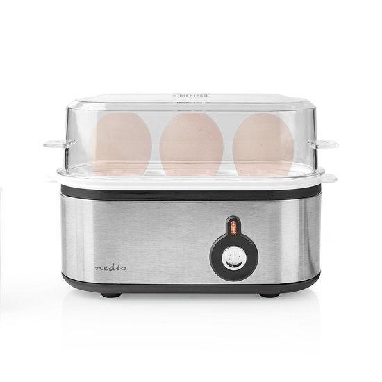 Nedis Nedis KAEB120EAL eierkoker voor 3 eieren RVS