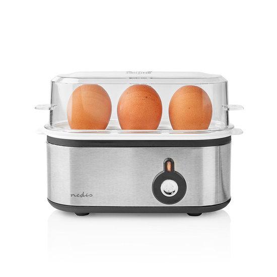 Nedis B.V. Nedis KAEB120EAL eierkoker voor 3 eieren RVS