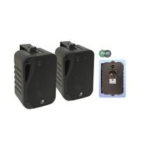 E-audio 5.25 inch 3-Weg achtergrondluidsprekers 160 Watt 4 Ohm zwart
