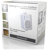 E-audio E-audio 5.25 inch 3-Weg achtergrondluidsprekers 160 Watt 4 Ohm wit