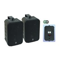 E-audio 6.5 inch 2-Weg achtergrondluidsprekers 200 Watt 8 Ohm zwart