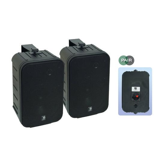 E-audio E-audio 6.5 inch 2-Weg achtergrondluidsprekers 200 Watt 8 Ohm zwart