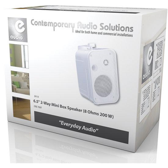 E-audio E-audio 6.5 inch 2-Weg achtergrondluidsprekers 200 Watt 8 Ohm wit