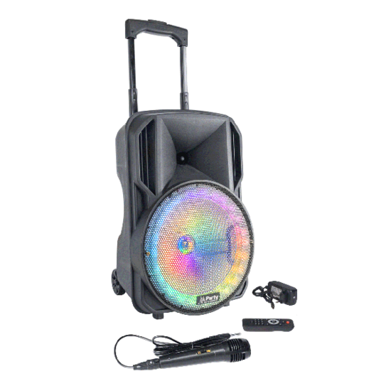 Party Party 10 inch Draagbare oplaadbare LED speaker met Bluetooth, LED verlichting en microfoon