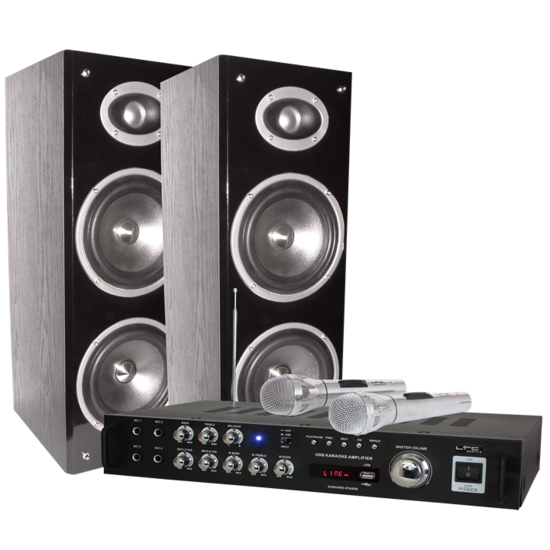 LTC audio LTC Audio Karaoke set met digitaal display + Bluetooth 200 Watt USB