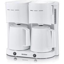 Severin KA 5830 duo koffiezetapparaat met thermoskannen - wit
