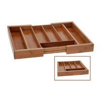 Excellent Houseware houten bestekbak uitschuifbaar
