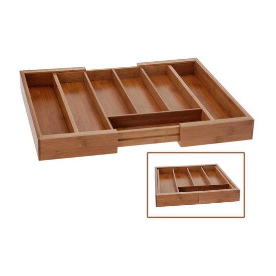 Excellent Houseware Excellent Houseware houten bestekbak uitschuifbaar