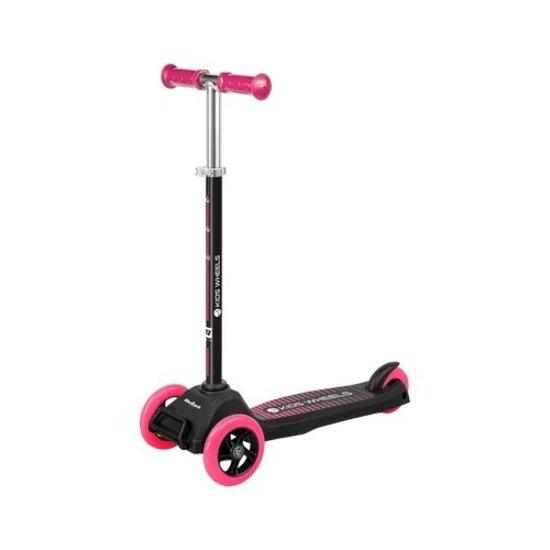 Rebel Rebel ZAB0121P Kids Wheels driewielige kids step, zwart/roze