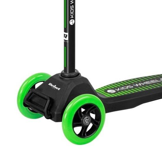 Rebel Rebel ZAB0121G Kids Wheels driewielige kinderstep, zwart/groen